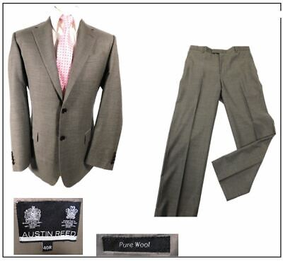 Austin Reed Mens 2 Piece Suit Ch40 R W34 L31 Neutral Light Brown Ebay