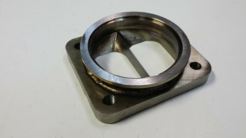 """Stainless T4 Divided to 3/"""" V-band Inlet Turbo Flange Transition Vband 1//2/"""" CNC"""