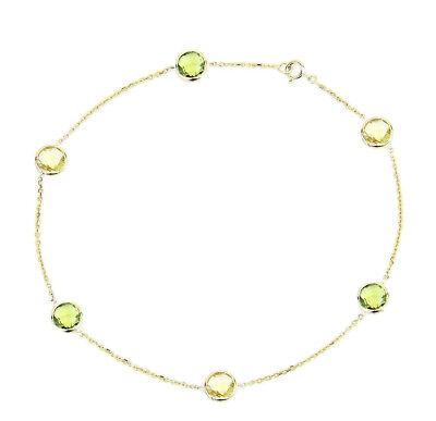 Jewelry & Watches 14k Gelbgold Fußkette Mit Peridot Und Lemon Topas Edelsteine 26.7cm Modern Design