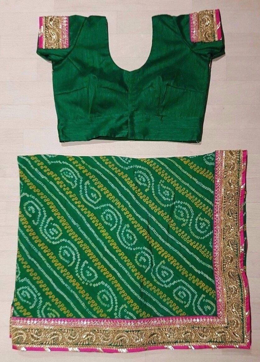 Indian Bollywood Ethnic Traditional Asain Saree Sari Wedding Party Wear Blouse D
