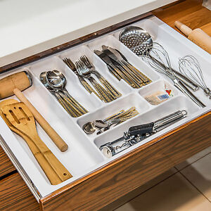 White-Cutlery-Tray-Box-Insert-Cabinet-W-30-90cm-Kitchen-Drawer-Storage-Organiser