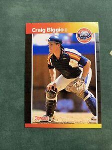 1989 Donruss Craig Biggio RC #561 Error No Period After INC HOF Rookie