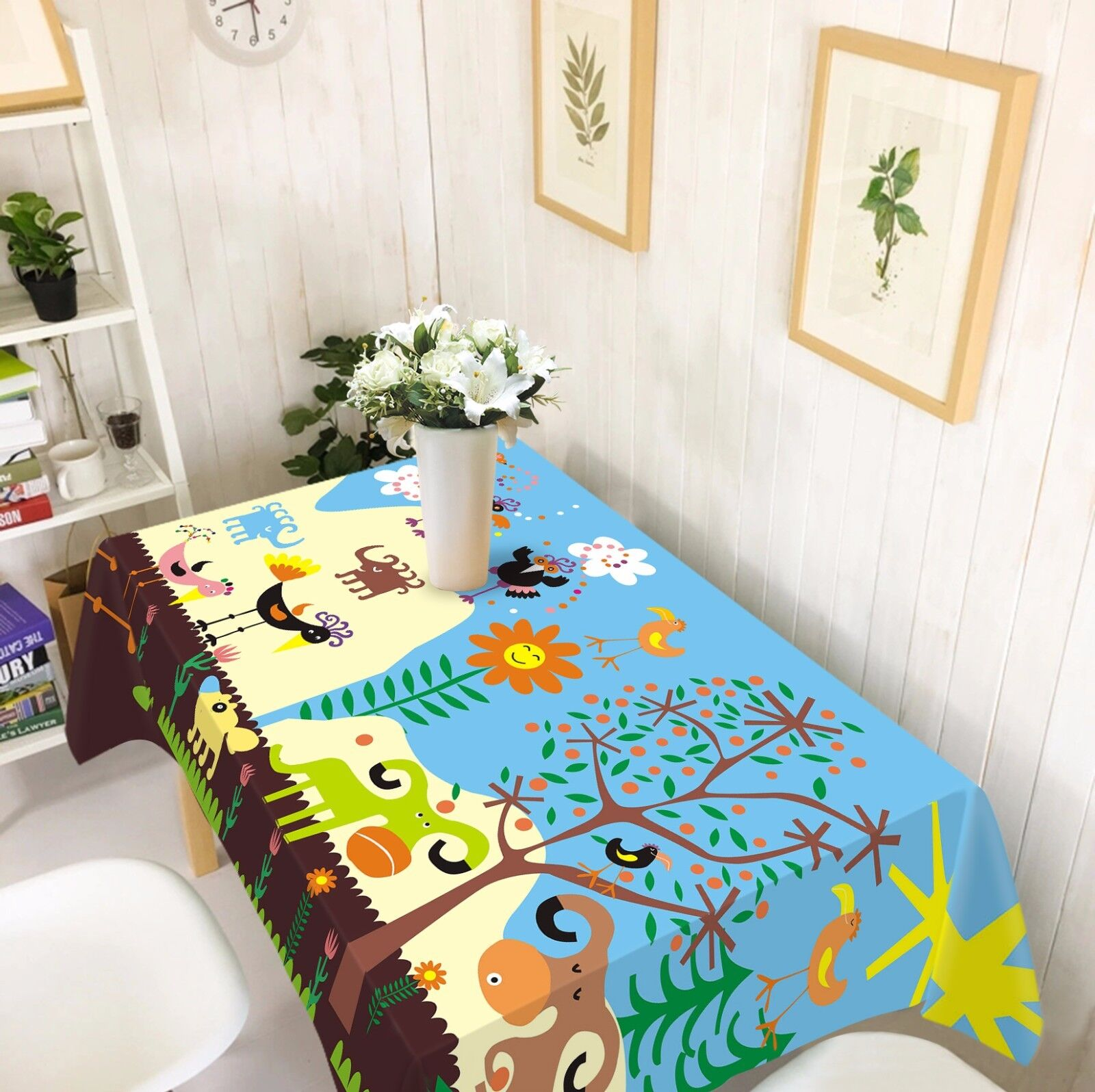 3D CARICATURE 47 Nappe Table Cover Cloth fête d'anniversaire AJ papier peint Royaume-Uni Citron