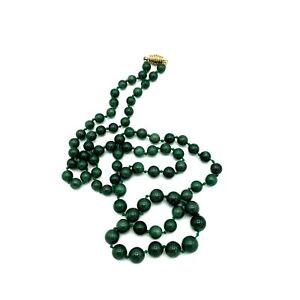 db6b65ad687e La foto se está cargando Vintage-la-Nefrita-Jade-Perla-Collar-Perlas-Verde-