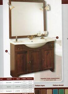 Mobile Da Bagno Specchio Top Ceramica Classico 105 Cm Arte Povera Anticato Ebay