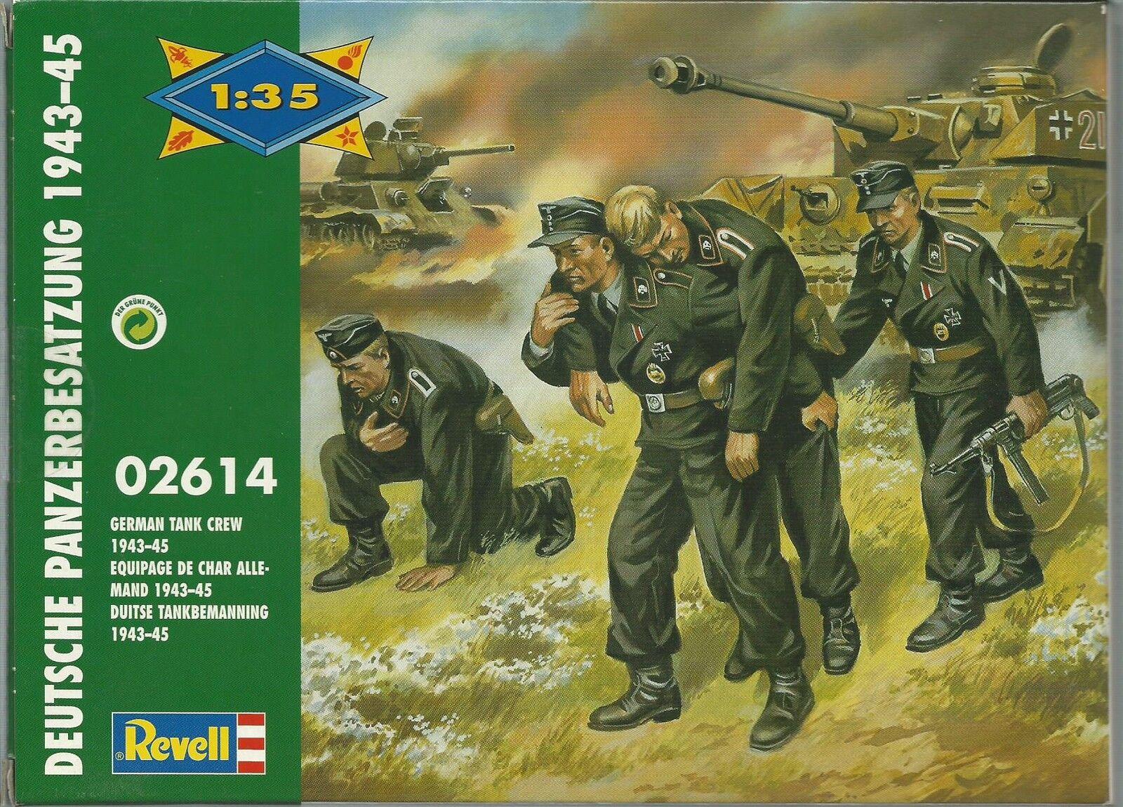 KIT REVELL 1 35 SOLDATINI  DEUTSCHE PANZERBESATZUNG 1943-45 ART ART ART 02614   2614 76557e
