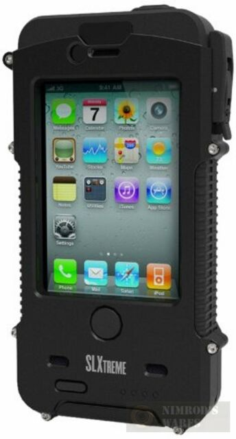 New Slxtreme Snow Lizard Rugged Solar Iphone 4 4s Case Black Fast Ship