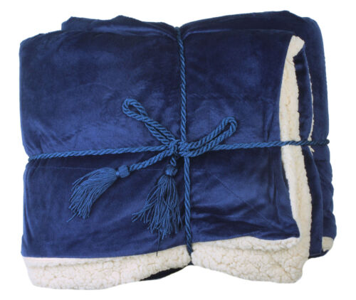 Soft Faux Fur Lambs Wool Throw Holiday Gift Winter Warm Blankets