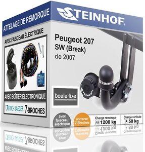 ATTELAGE-fixe-PEUGEOT-207-SW-Break-de-2007-FAISC-UNIV-7-broches-COMPLET