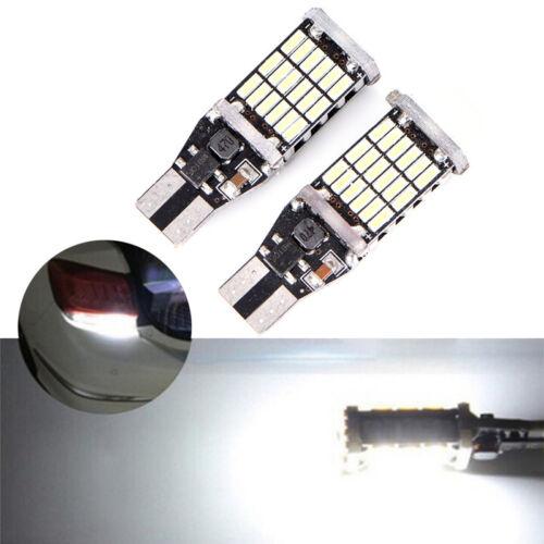 T15 W16W 45 SMD 4014 Error Free LED Car Reverse Back Light Bulbs 6000KH ed