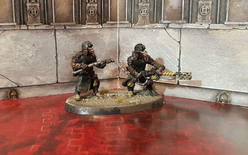Death Korps de Krieg Granadero Heavy Flamer equipo  2 pintado warhammer 40k
