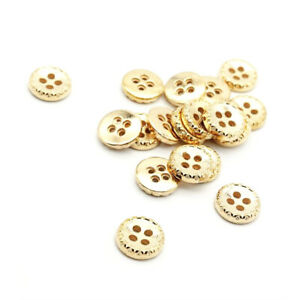 10 Red Brown Round Wooden 4 Hole Sewing Buttons BU1145 Jumper Shirt 30MM