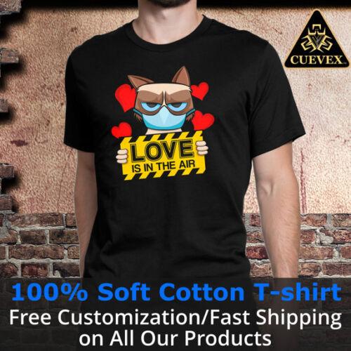 Anti Valentines Grumpy Cat Shirt Love is in the Air Men T-Shirt