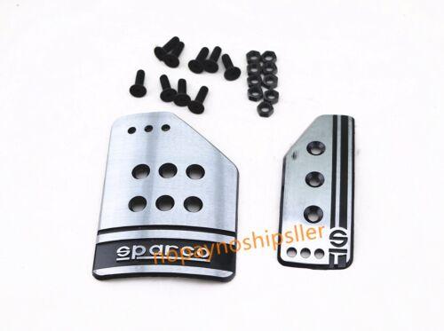 2PCS RACING SPORTS JDM BRAKE GAS PEDAL PAD COVER KIT AUTO Automatic Car TRANS