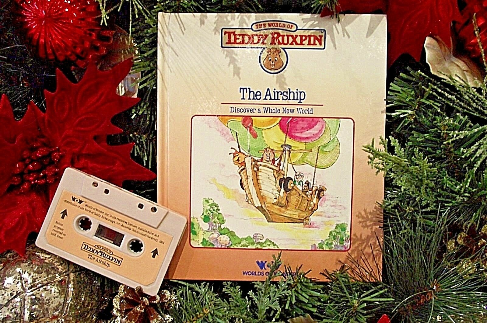 Teddy Ruxpin  Book & Tape cassette THE AIRSHIP