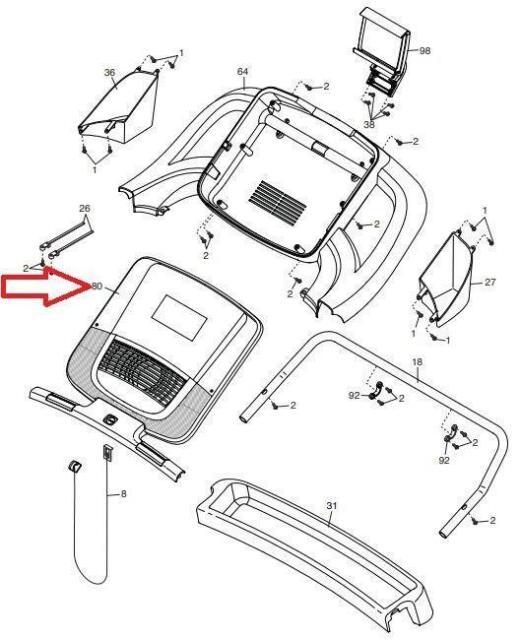 Buy Nordictrack C 1650 Treadmill Display Console 375120 Etnt 11215