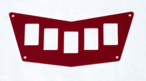 POLARIS RZR 570 800 XP 900 RED G-10 5 SWITCH PANEL XTREME RACING 40115GR