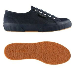 SUPERGA 2750 LEAHORSEU sneaker color navy taglia UK 2.5 EU 35