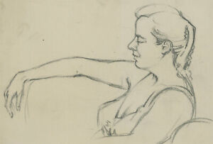 Malcolm Rogers - Set of Five 20th Century Graphite Drawings, Profiles