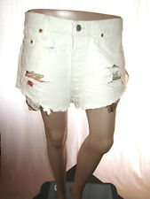 Vtg Levis Levi's 501 W34 Hot Pants Jeans Shorts Re-work Cut Off Hand Custom AF30