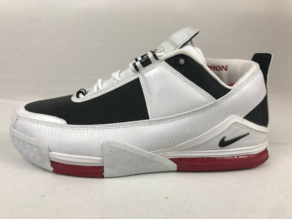 Nike lebron ii 2 basso rosso / nero / bianco fegato campione pe numero 13
