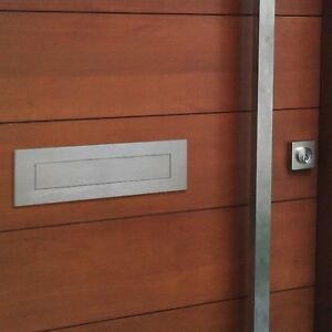 Image is loading Milkcan-LETTER-PLATE-DOOR-FLAP-Letterbox-304-STAINLESS- & Milkcan LETTER PLATE - DOOR FLAP Letterbox 304 STAINLESS Steel ... pezcame.com