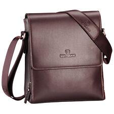 Teemzone Mens Genuine Leather Messenger Shoulder School Bag Document Grab Tablet