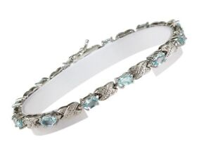 7-034-925-Sterling-Silver-Classic-Bracelet-with-Oval-Blue-Topaz