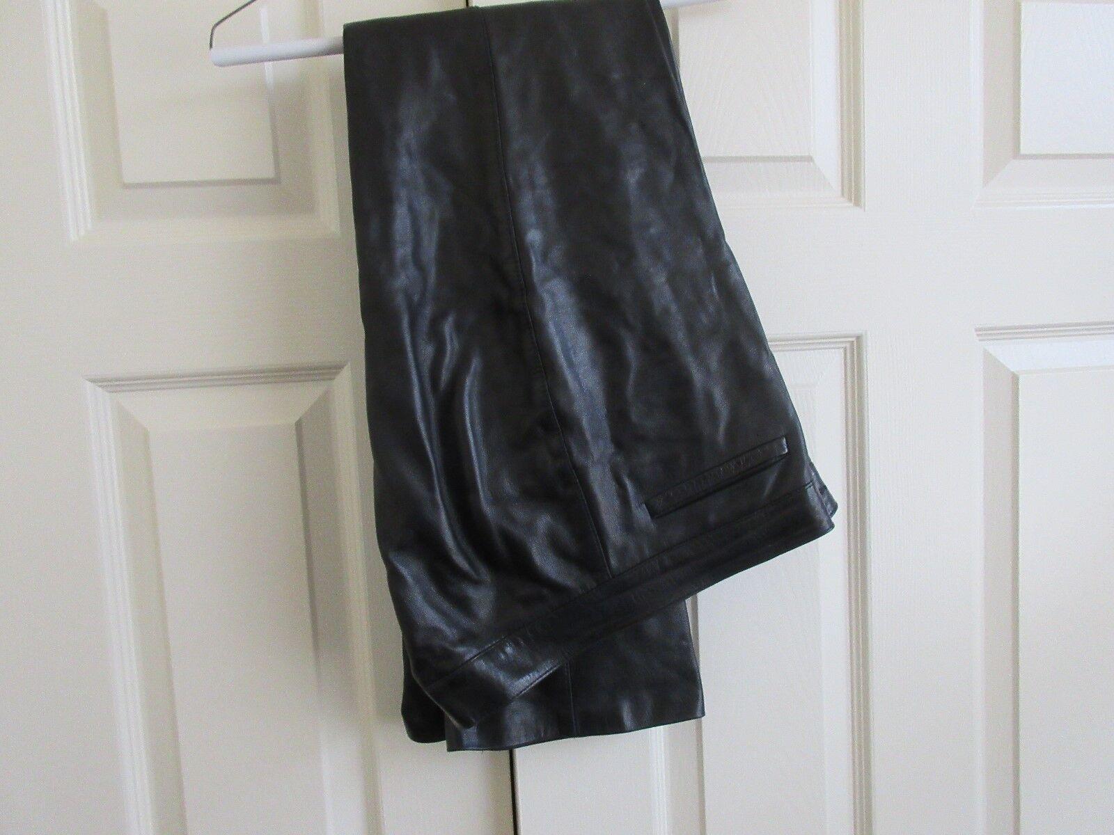 Fabrique En France , Ladies Leather Pants , Size 42 , B