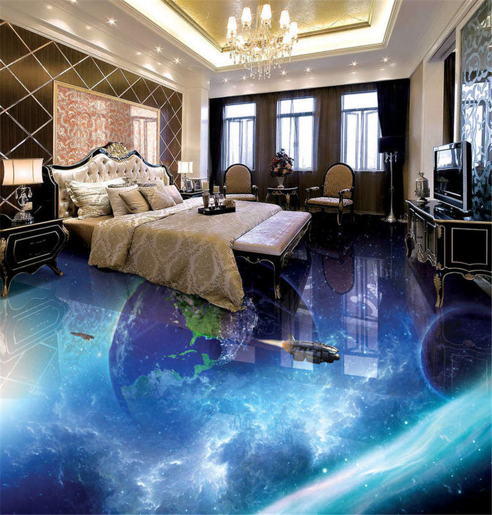 Tenuous Air Layer 3D Floor Mural Photo Flooring Wallpaper Home Print Decoration