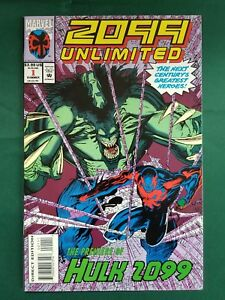 Details about 2099 UNLIMITED #1 - 1st App Hulk 2099 Marvel Comics Spider-Man