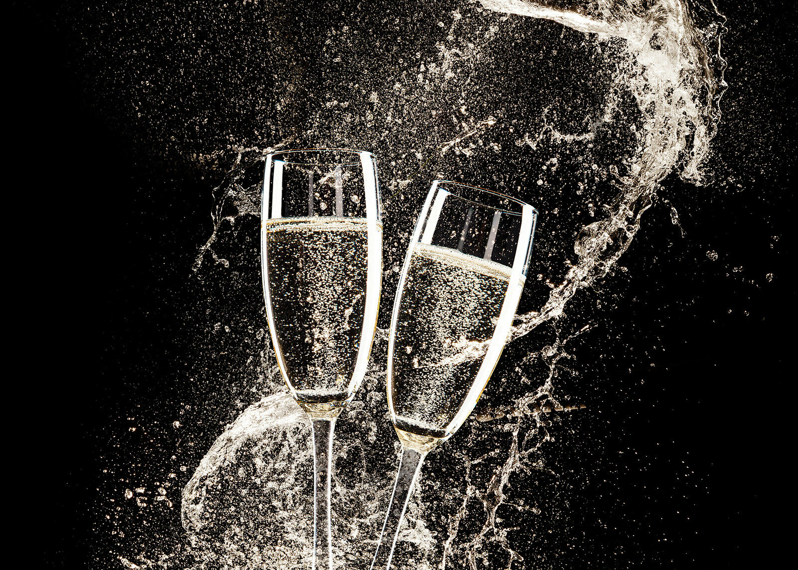VETRO Temperato Foto Foto Foto Stampa Wall Art Picture VINO CHAMPAGNE Splash Prizma GWA0336 082a4e