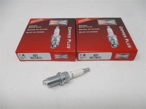 8 Eight Champion 431 RC14YC Copper Plus Spark Plugs