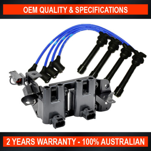Swan Ignition Coil Pack /& NGK Lead Kit for Hyundai Accent Getz 1.4L 1.5L 1.6L