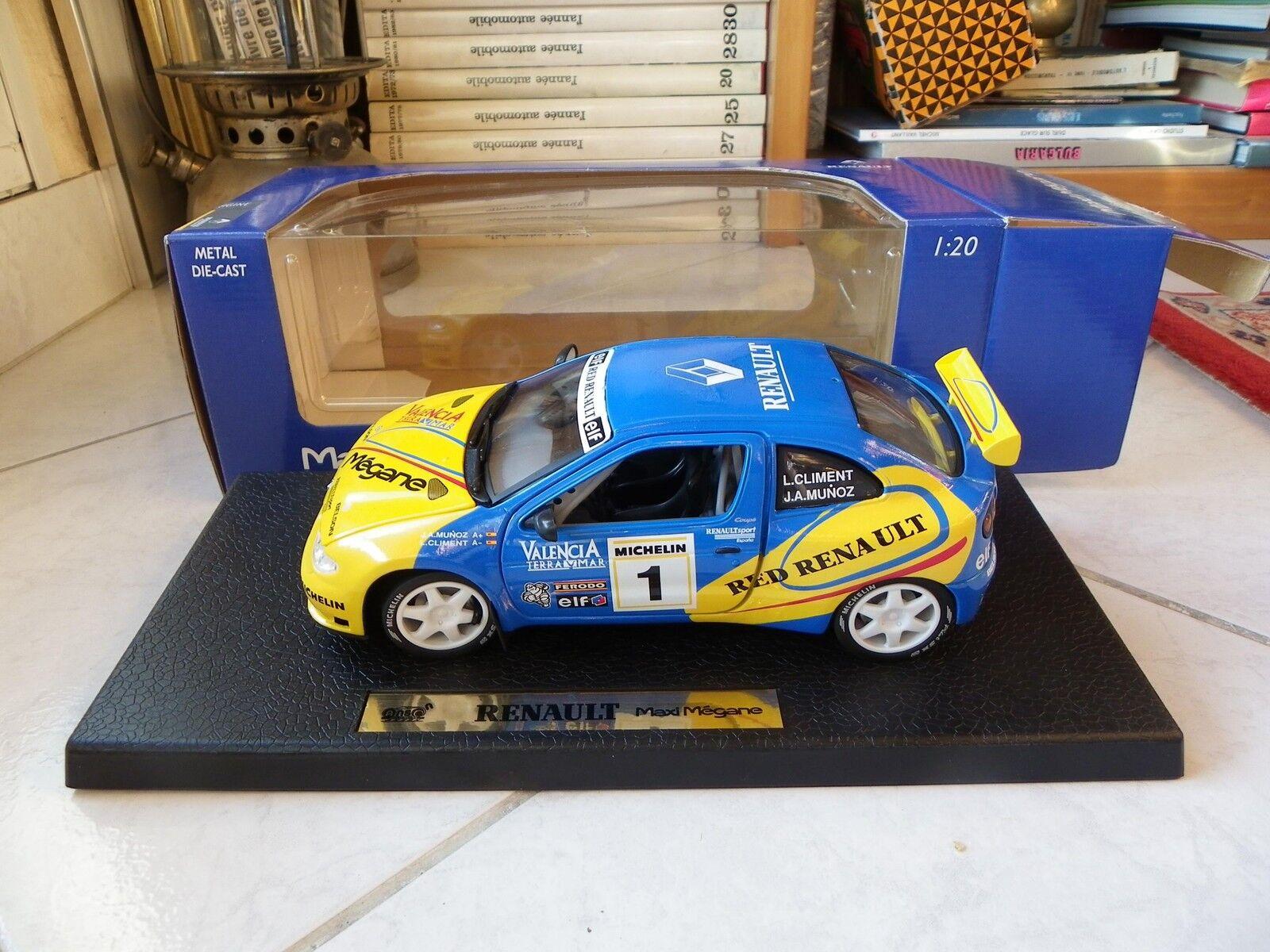 Renault Maxi Megane Climent Munoz N° 1 Anson 1 20 No 1 18 Miniatura