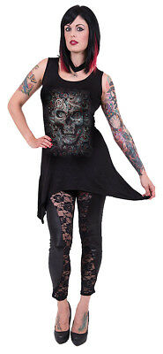 Gothic//Rock//Biker//Clothing Spiral Direct BLOOD ROSE Goth Bottom Camisole Dress