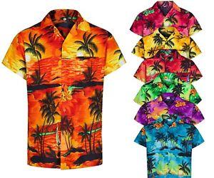 Camisa-Hawaiana-para-Hombre-Palmera-Despedidas-de-Soltero-Playa-Vacaciones-Aloha