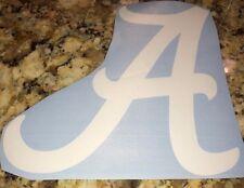 "Alabama Crimson Tide Car Decal/Wall Sticker 4""W x 4""T-White"