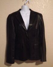 Women's DKNY Black Leather Jacket Size 8