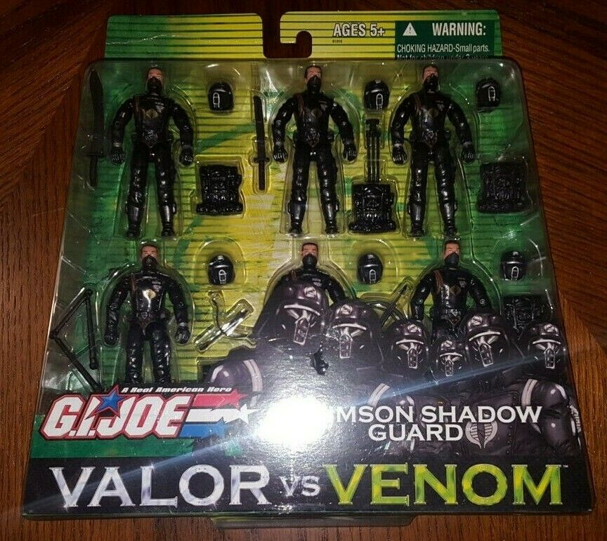 GI Joe Valor VS. Venom Crimson Shadow Guard 6 pack MISB Hasbro HTF Rare