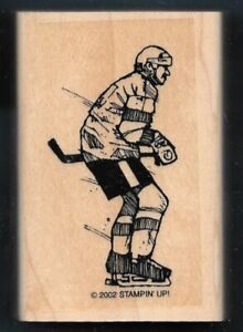Ice Hockey Sports Stamps Wood Mounted Rubber Stamps Skater Hockey Player
