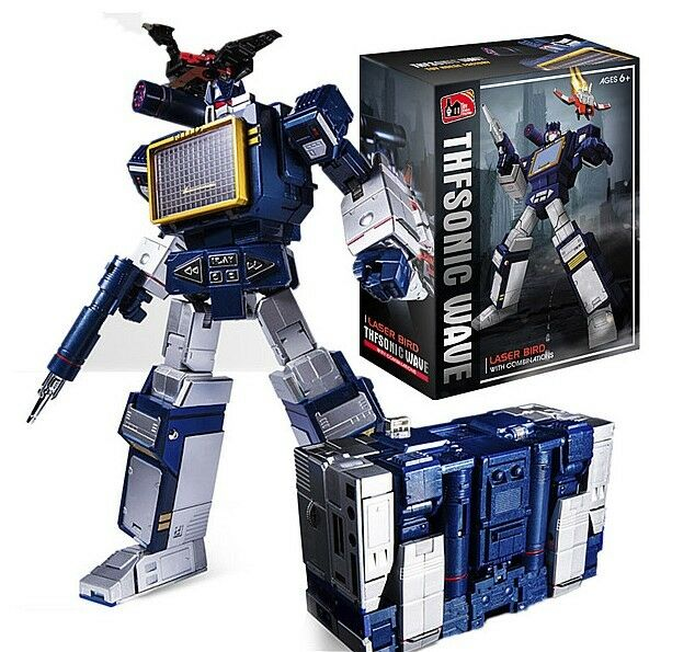 THF Transformers G1 Soundwave & Laserbeak Action Figure 23CM Toy Nuovo in Box