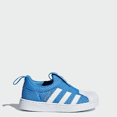 Adidas B37252 toddler Superstar 360 I baby shoes kids WHITE BLUE