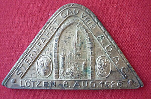 ADAC-Auto-Plakette-Sternfahrt-ADAC-GAU-VIIIa-Loetzen-8-Aug-1926