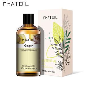 100ML-Gingembre-100-Pure-Aromatherapie-Huiles-Essentielles-Bio-Avec-Boite
