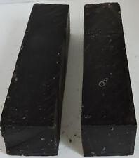 2 African Blackwood Mpingo 1.75x7.75 Woodwinds Instruments Cutlery Knife Handles