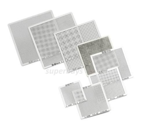 8pcs Reball Heat Rework PCB Soldering Solder Repair BGA Reballing Stencil Grid