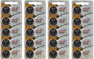 20pc-GENUINE-MAXELL-CR2025-2025-LITHIUM-BUTTON-COIN-CELLS-BATTERIES-Battery-3V
