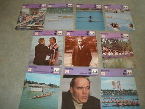 SCULLING-Rowing-Sport-1977-79-SPORTSCASTER-10-CARD-SET-Oxford-amp-Cambridge