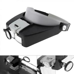 Magnifiers 10X ABS Headband Magnifier Head Magnifying Glass Lens Loupe with LED